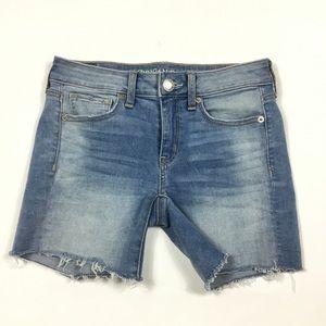 American Eagle Jean Midi Shorts Womens Size 2